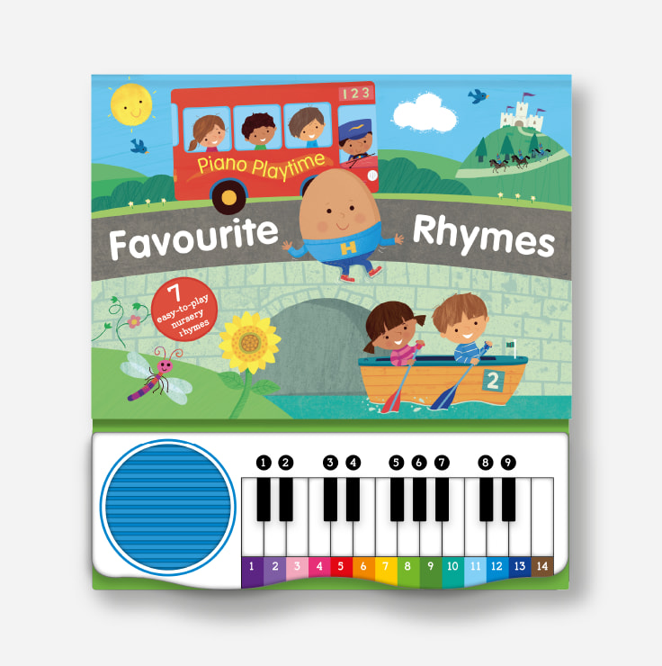 Piano Playtime - Favourite Rhymes cover and piano