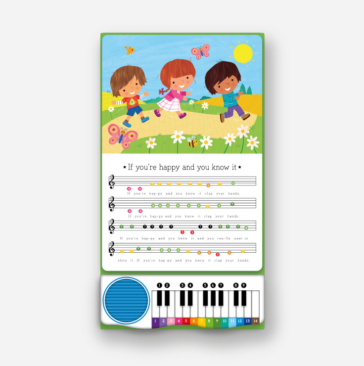 Piano Playtime - Favourite Rhymes spread and piano