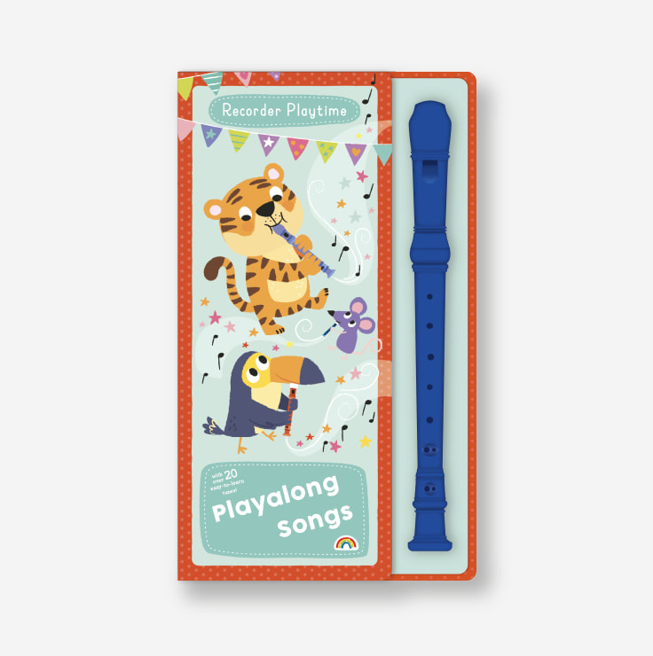 Recorder Playtime - Playalong Songs cover and recorder