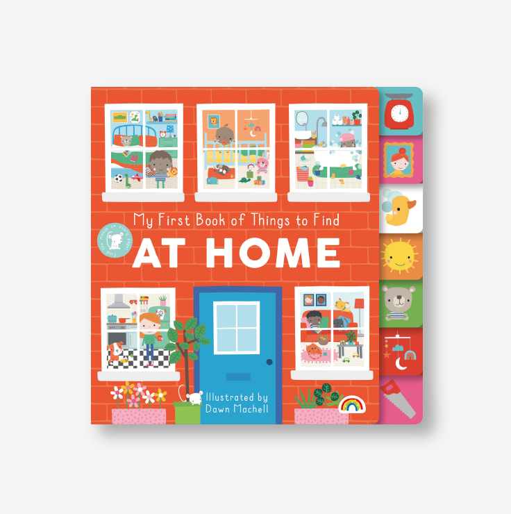 My first book of things to find - AT HOME cover